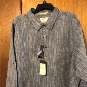 Tasha Elba Island Linen Shirt 3XB